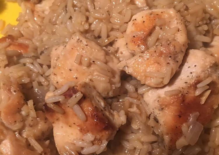 Garlic chicken and rice