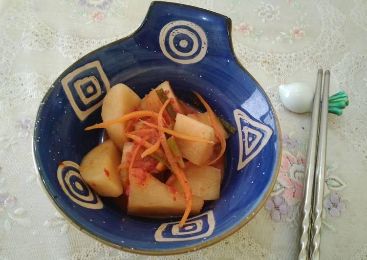 Kimchi lobak (Cube radish kimchi/kkadugi)