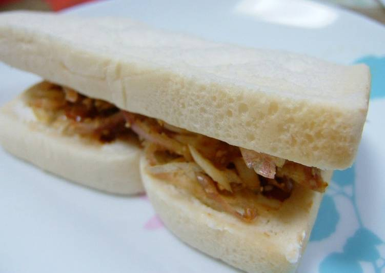 Recipe of Favorite For Myoga Ginger Lovers: Bonito Flake and Cheese Sandwich