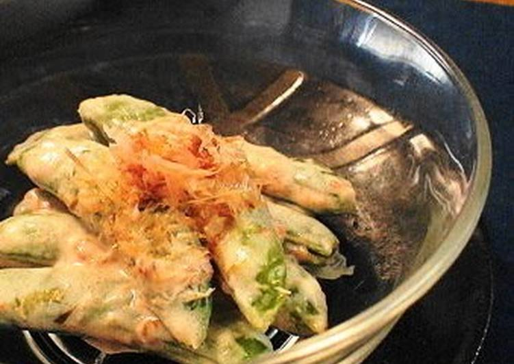 Easiest Way to Make Award-winning Snap Peas with Umeboshi & Mayonnaise