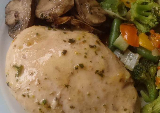 Vickys Garlic & Herb Chicken and Mushrooms, GF DF EF SF NF