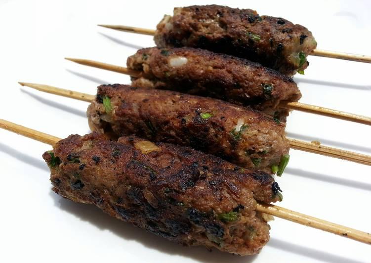 Recipe: Tasty Pan Grilled Lamb Kofta Skewers