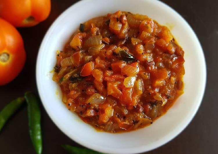 30 Minute Steps to Prepare Love Tomato Thokku