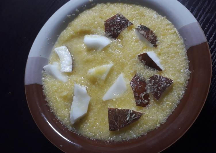 Recipe of Award-winning Garri with coconut