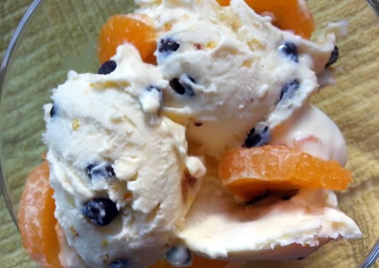 'V' chocolate orange ice cream
