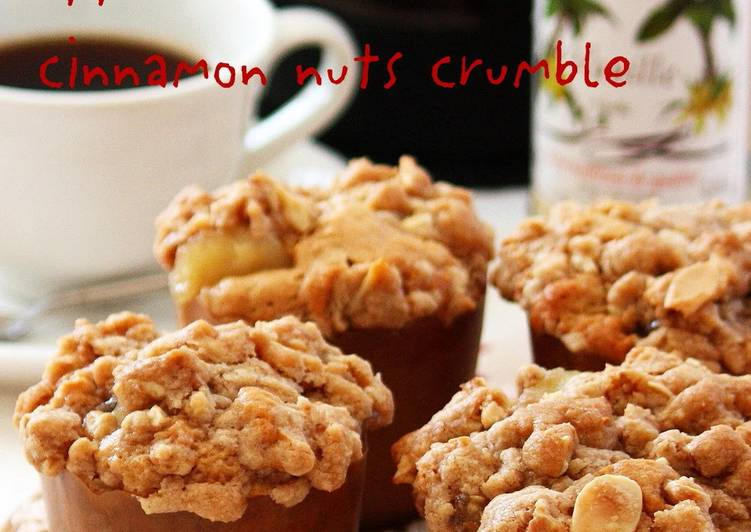 Easiest Way to Prepare Quick Cinnamon Nut Crumble Apple Muffins
