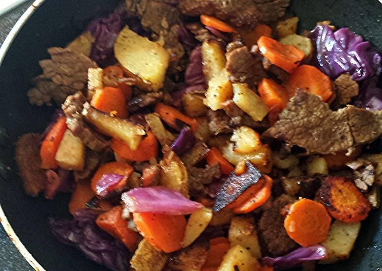 Left over carne asada w/Veggies