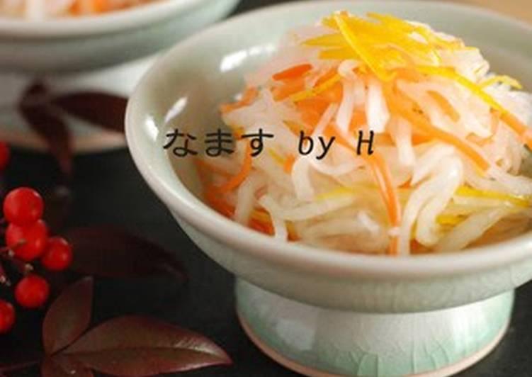 Daikon Radish and Carrot Namasu Pickles