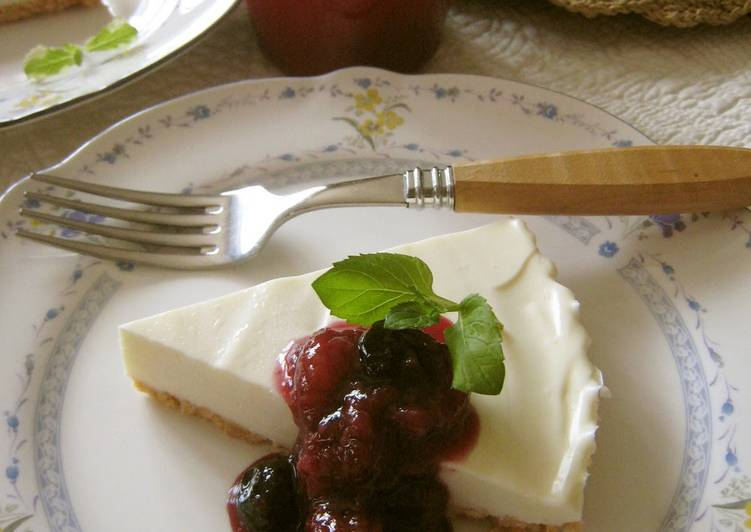 Recipe of Speedy No-Bake (Rare) Cheesecake
