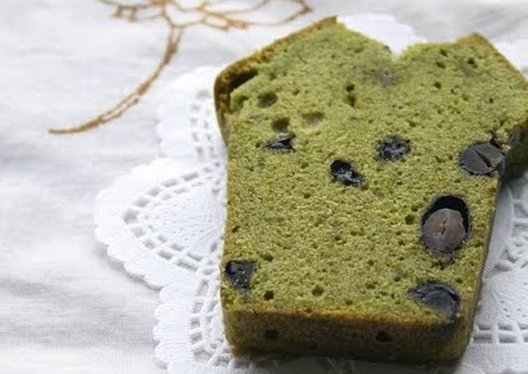 Steps to Make Super Quick Homemade Japanese-style Cake with Matcha and Kuromame