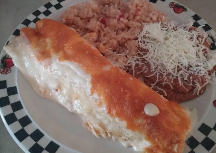 Cheesy chicken enchiladas - Laurie G Edwards