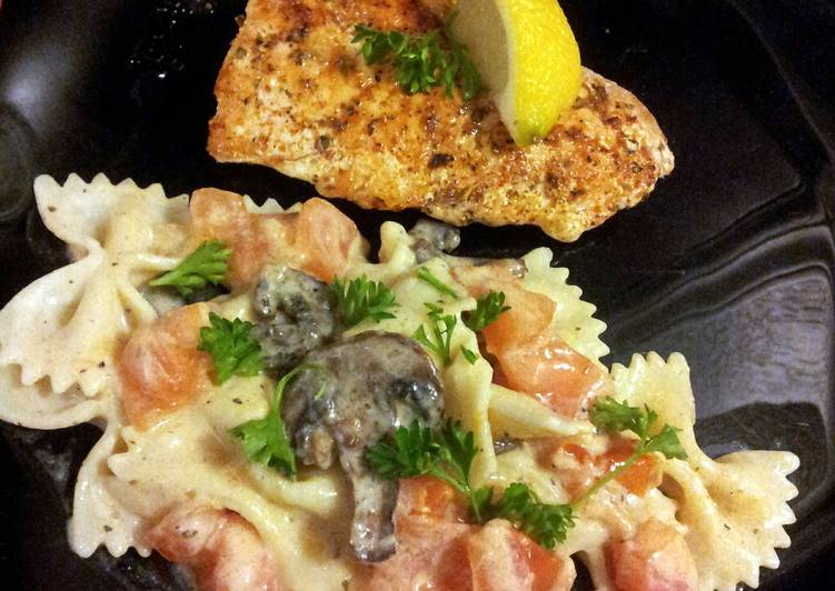 easy healthy salmon and pasta