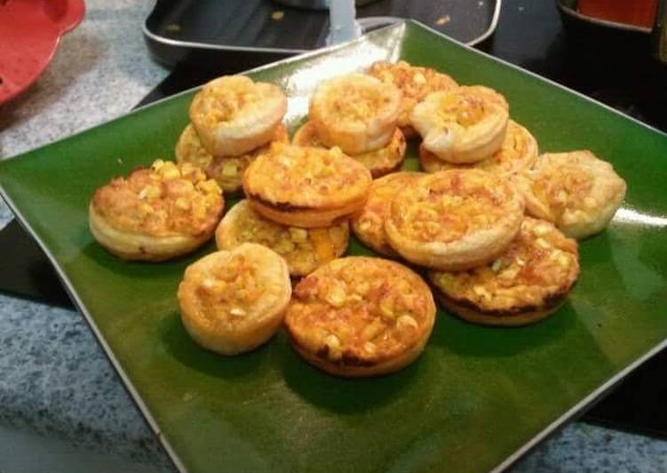 Easy Healthy Recipe: Yummy CORN and CAPSICUM TARTLETS