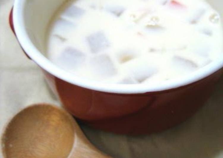 Miso and Soy Milk Soup with Chunky Vegetables - Laurie G Edwards