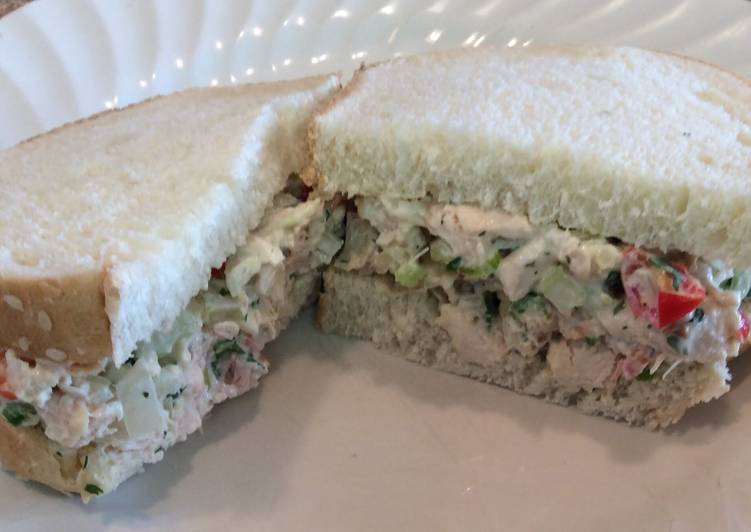 Recipe of Super Quick Homemade The Best Chicken Salad Sandwich