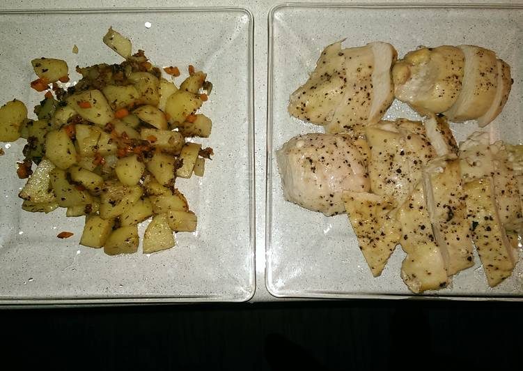 Recipe of Any-night-of-the-week Sautéd Potatoes and Roasted Chicken Breast