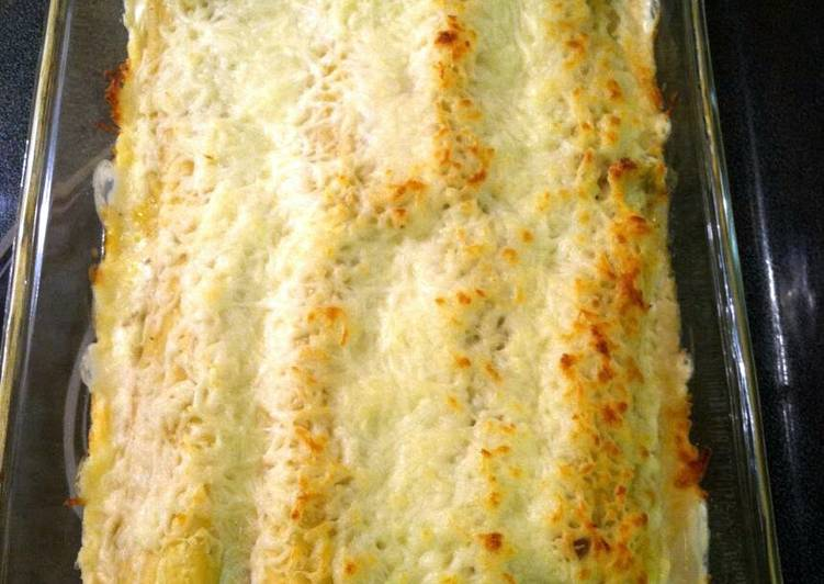 chicken and sausage stuffed manicotti