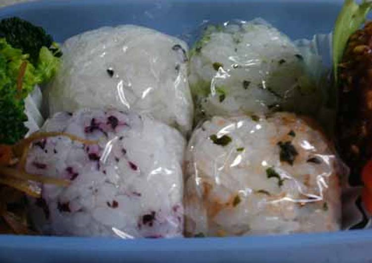 Recipe of Speedy Tiny & Easy Onigiri Rice Squares