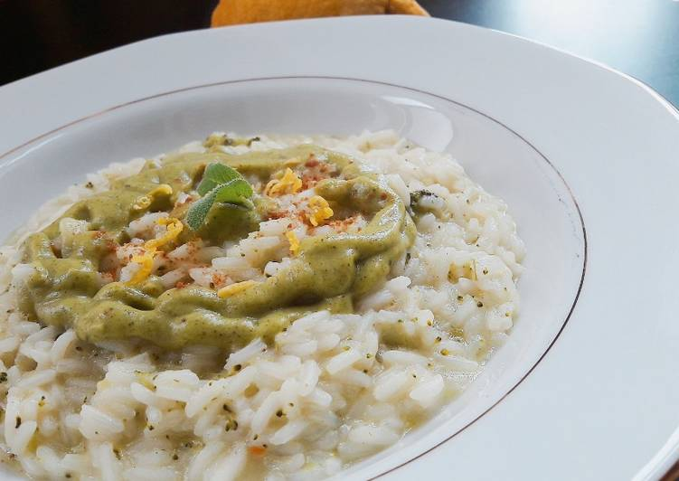 How to Prepare Perfect Risotto with broccoli and lemon-scented bottarga