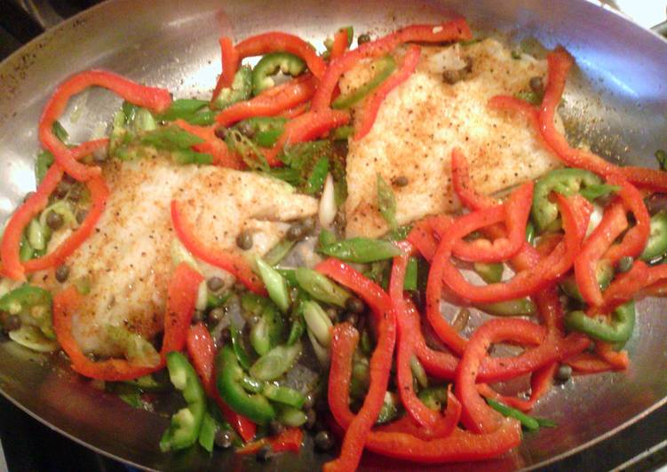 Pan Seared Cod w Vegies