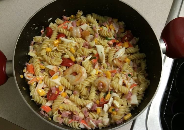 Recipe: Appetizing Seafood Pasta Salad