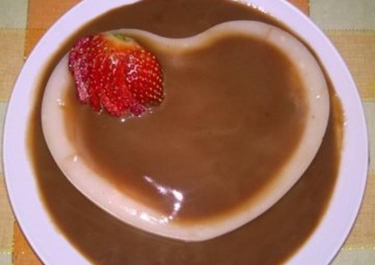 Puding Yoghurt Strawberry Vla Cokelat