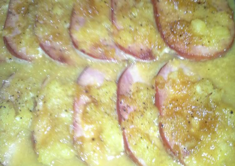 Baked Ham in orange pineapple dijon glaze