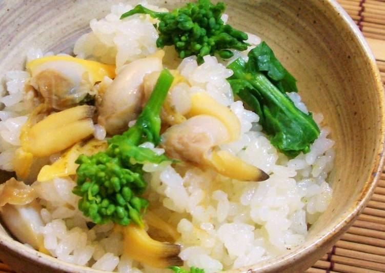 Easiest Way to Cook Perfect Mixed Rice with Manila Clams and Nanohana