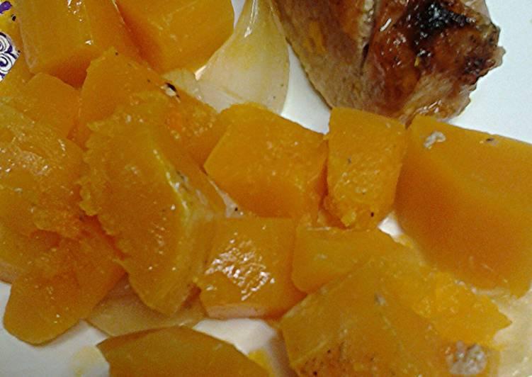 Butternut squash with pork loin