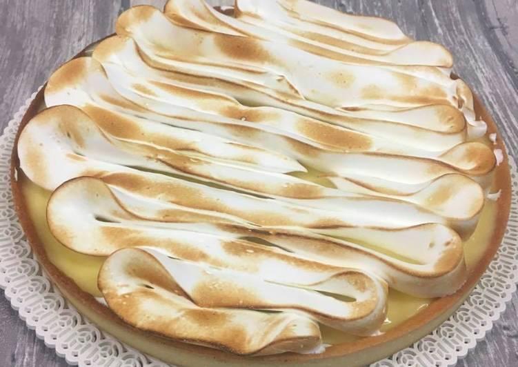 Tarte citron à la meringue Italienne