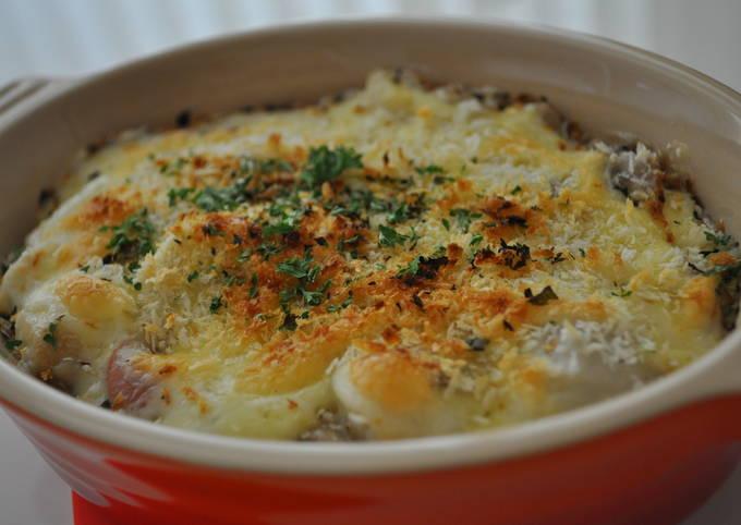Satoimo (Taro Root) Cheese Gratin