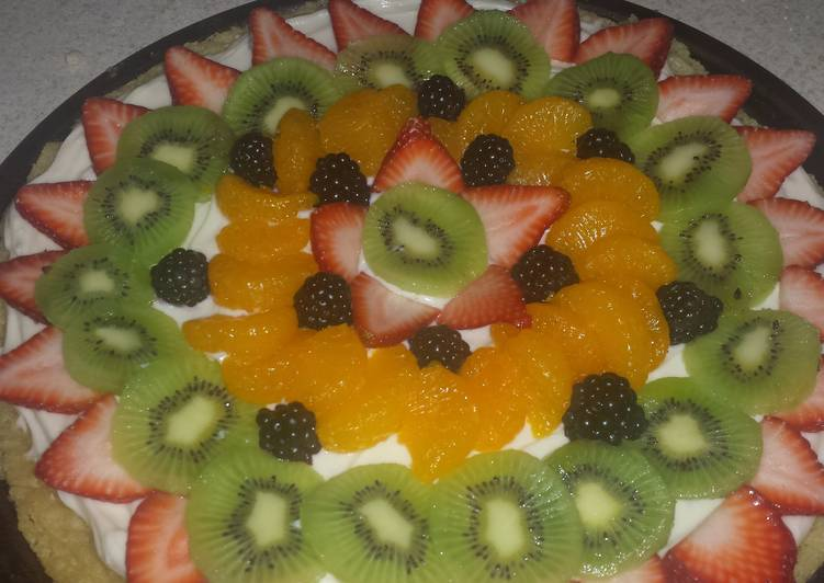 Steps to Prepare Any-night-of-the-week Fruit Pizza