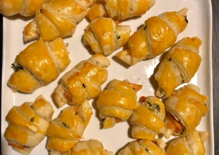 Recette: Petits croissants au saumon