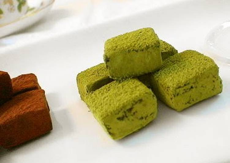 Step-by-Step Guide to Make Perfect For Valentine's Day Not Too Sweet Matcha Truffles