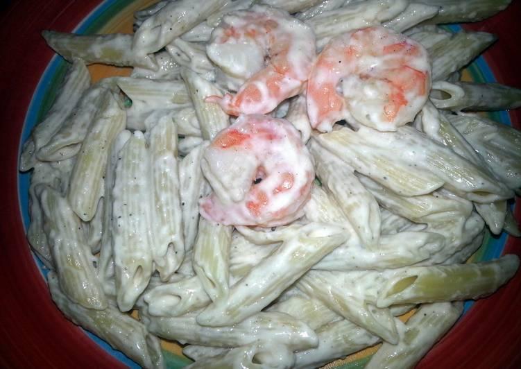 My way Shrimp Alfredo Penne Rigate