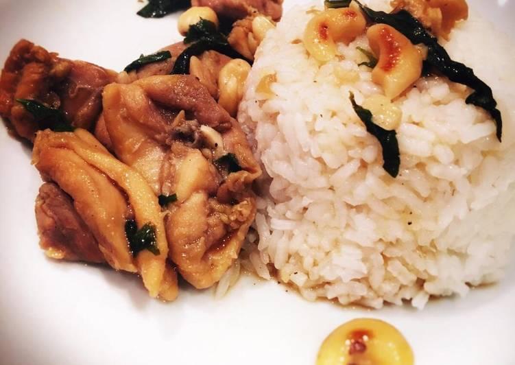Poulet au basilic thaï et aux noix de cajou