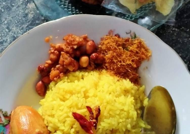 Nasi kuning rice cooker tanpa ribet