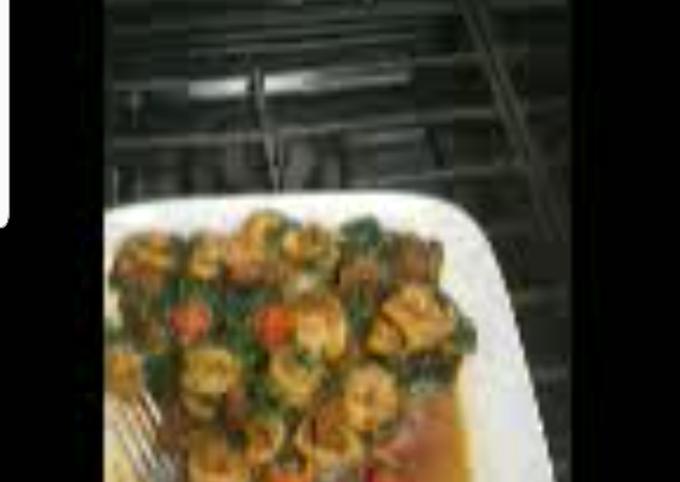 Spinach medley w/shrimp