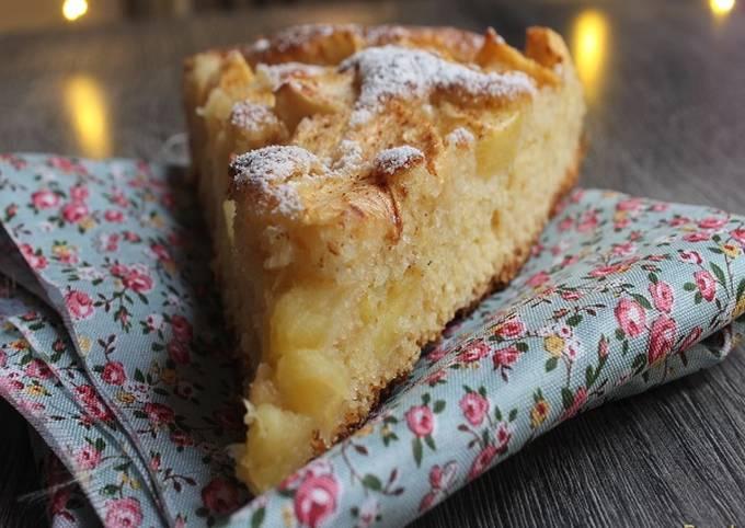 Gâteau aux pommes rapide