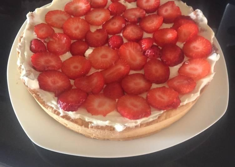 Tarta de Mascarpone y fresa