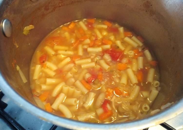 Recipe of Speedy Pasta e fagioli (pasta and bean soup)