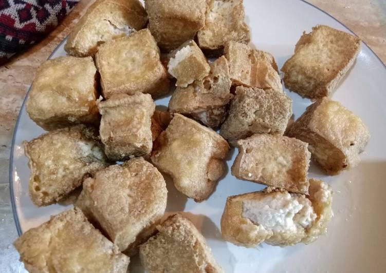 Tahu Susu Crispy Outside Creamy Inside
