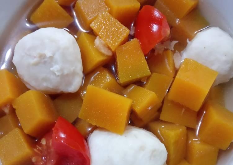 243) Sup Bakso Labu Kuning