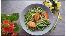 Hình ảnh món Đậu đũa xào hành tây và cà chua ?