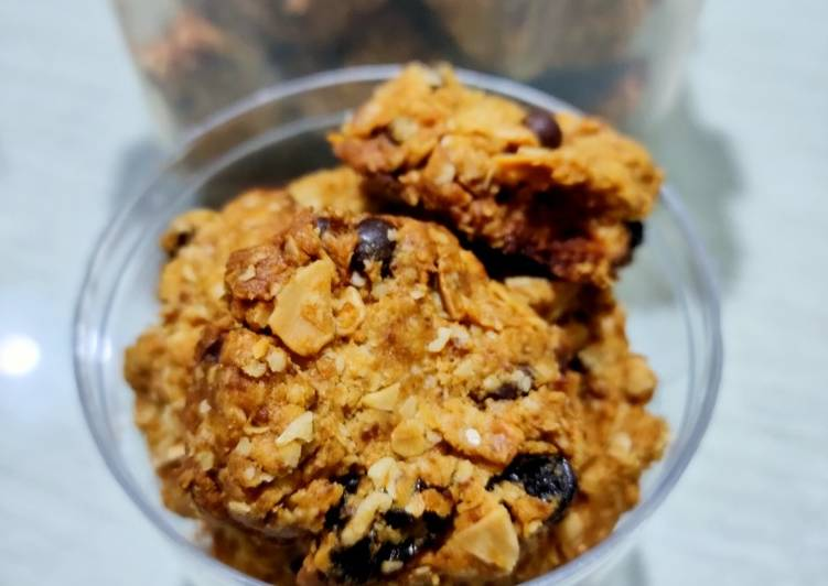 Resep Oatmeal Cookies with almond yang Sempurna