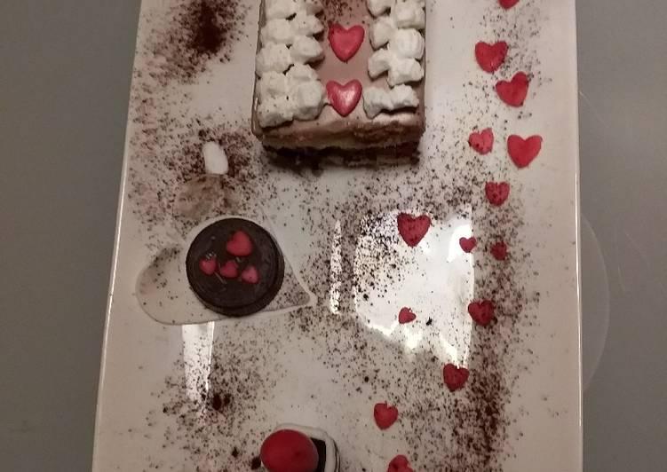 Rossetto e cioccolato(torta con 2 cioccolati)