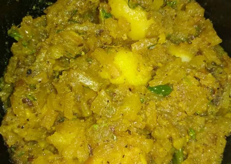 Simple Way to Make Super Quick Homemade Raw papaya Potatoes roast