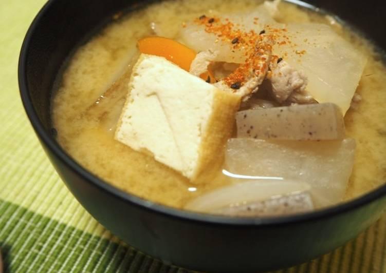 Pork Miso Soup (Tonjiru)