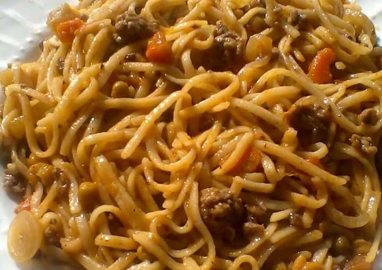 Spaghetti With Minced Meat Recipe By Catherine Ochieng Cookpad
