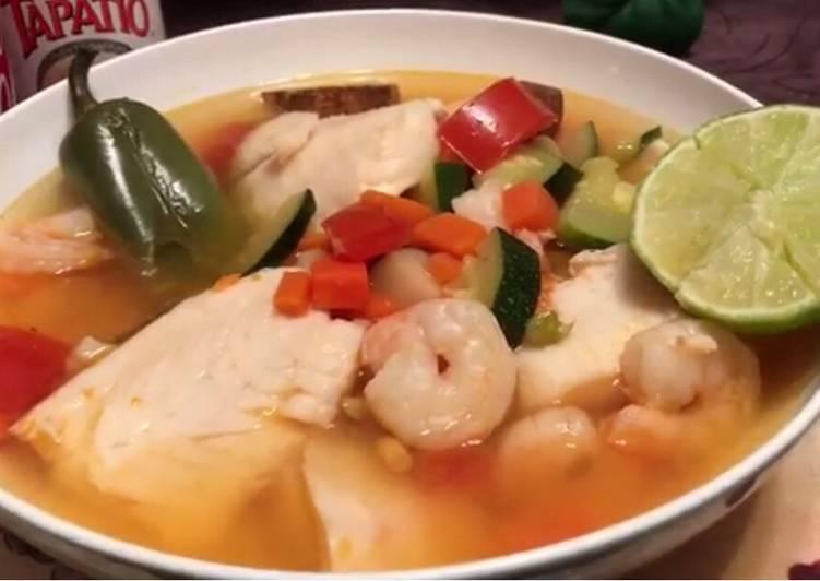 Shrimp and Tilapia Soup - Laurie G Edwards